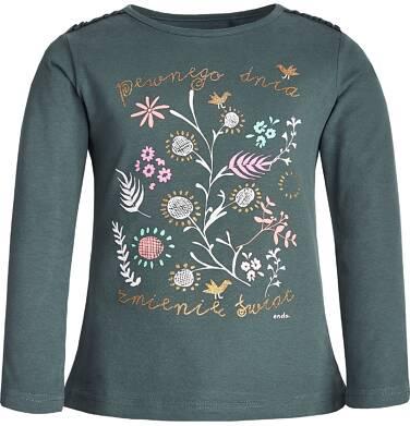 Endo - Bluzka z długim rękawem dla dziewczynki 9-13 lat D82G528_1