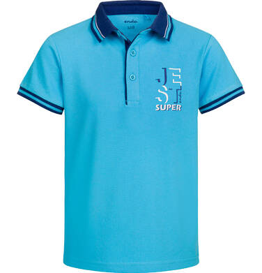 Endo - Koszulka polo z krótkim rękawem dla chłopca, jest super, niebieska, 2-8 lat C03G017_1
