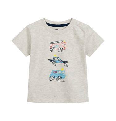 Endo - T-shirt dla dziecka do 2 lat, służby ratunkowe, szary N03G062_1