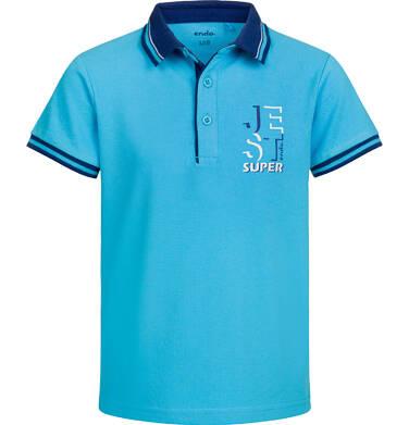 Endo - T-shirt polo z krótkim rękawem dla chłopca, jest super, niebieski, 9-13 lat C03G517_1