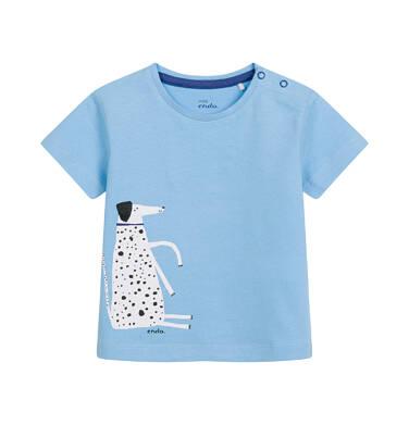 Endo - T-shirt dla dziecka do 2 lat, z psem, niebieski N03G066_1