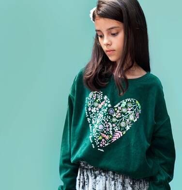 """Endo - """"Kto o ziemię dba dobrze w głowie ma"""" Bluza z długim rękawem dla dziewczynki 3-8 lat D82C011_1"""