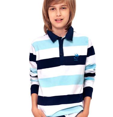 Endo - Koszulka polo z długim rękawem dla chłopca 9-13 lat C91G559_2