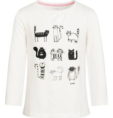 Endo - Bluzka z długim rękawem dla dziewczynki 3-8 lat D92G062_1