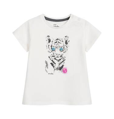 Endo - Bluzka dla dziecka do 2 lat, z tygrysem, porcelanowa N03G067_1
