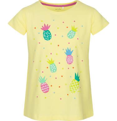 T-shirt z krótkim rękawem dla dziewczynki  9-13 lat D91G532_1
