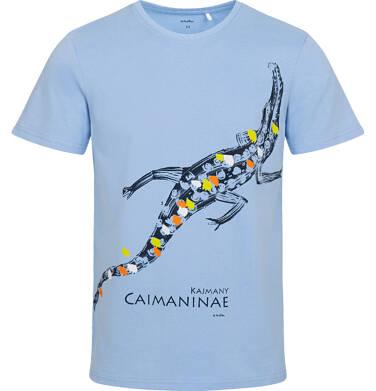 Endo - T-shirt męski z kajmanem, niebieski Q05G010_1 15