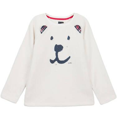 Endo - Bluza przez głowę z futerkowego polaru dla dziewczynki 3-8 lat D62C030_1