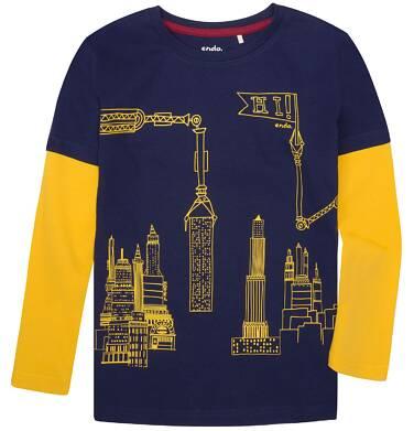 Endo - Koszulka z długimi, odcinanymi rękawami dla chłopca 9-13 lat C72G549_1