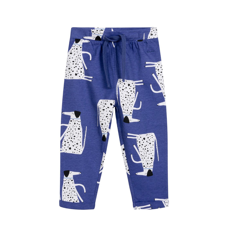 Endo - Spodnie dla dziecka do 2 lat, w dalmatyńczyki, niebieskie N03K035_1
