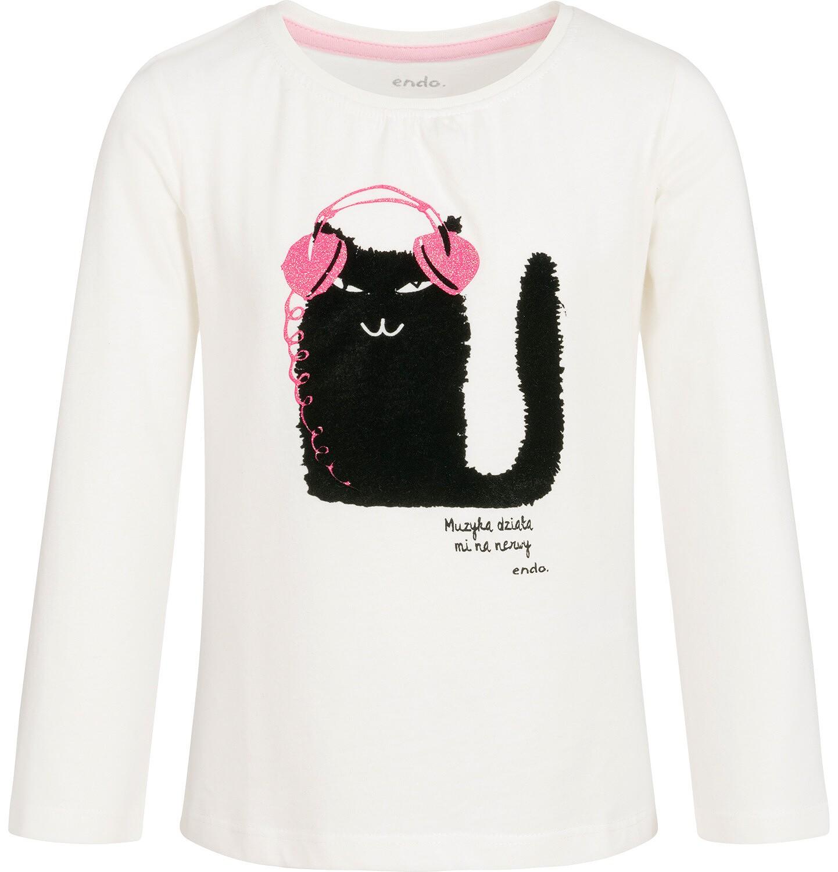Endo - T-shirt z długim rękawem dla dziewczynki 3-8 lat D92G066_1