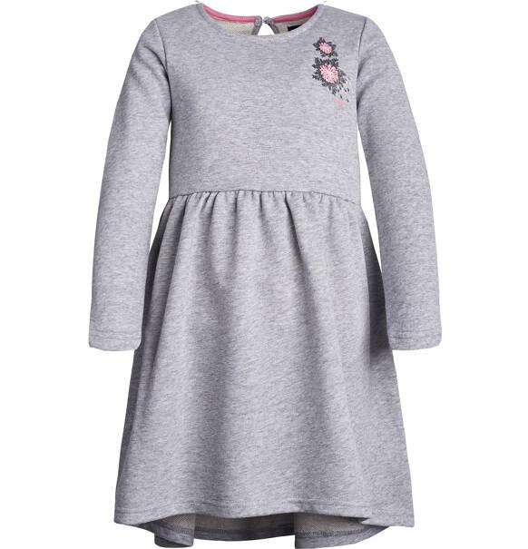 903a1e27be Endo - Sukienka z długim rękawem dla dziewczynki 3-8 lat D82H012 1