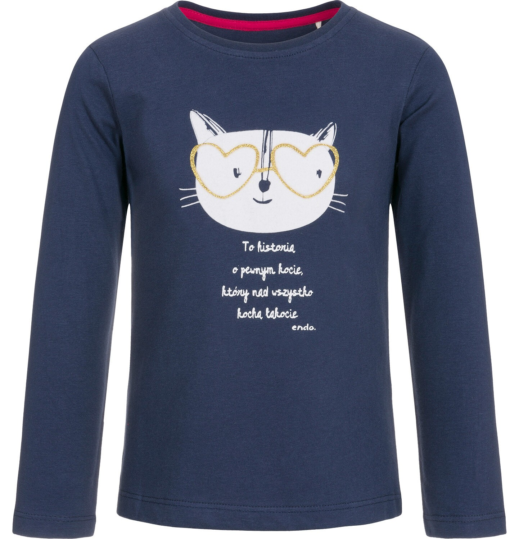 Endo - T-shirt z długim rękawem dla dziewczynki 3-8 lat D92G067_1