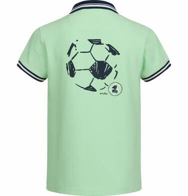 Endo - T-shirt polo z krótkim rękawem dla chłopca, z piłką, jasnozielony, 2-8 lat C03G021_1 6