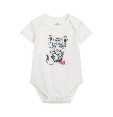 Endo - Body z krótkim rękawem dla dziecka do 2 lat, z tygrysem, porcelanowe N03M022_1