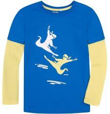 Koszulka z długimi, odcinanymi rękawami dla chłopca 9-13 lat C72G587_1