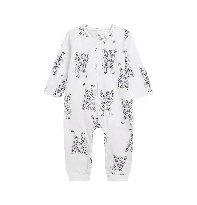 Endo - Pajac dla dziecka do 2 lat, w tygrysy, porcelanowy N03N009_1