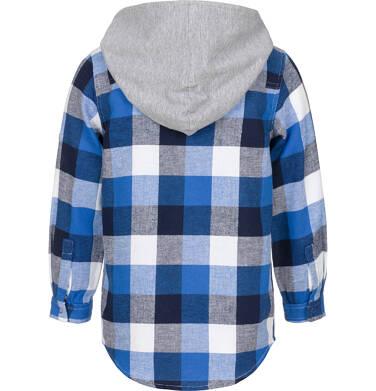 Endo - Koszula z długim rękawem i kapturem dla chłopca, w kratę, 3-8 lat C92F006_1,2