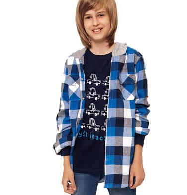 Endo - Koszula z długim rękawem i kapturem dla chłopca, w kratę, 3-8 lat C92F006_1