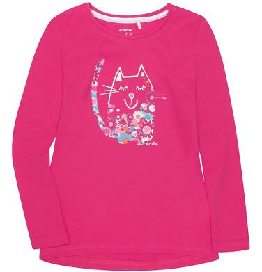 Endo - Bluzka z długim rękawem  dla dziewczynki 3-8 lat D72G157_1