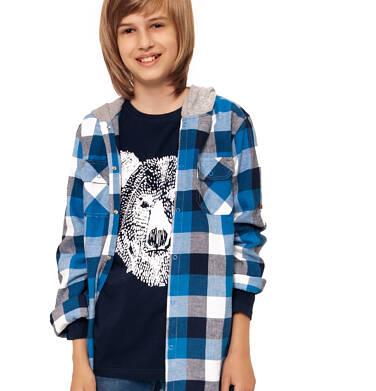 Endo - Koszula z długim rękawem i kapturem dla chłopca, w kratę, 9-13 lat C92F506_1