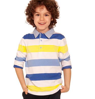 Endo - T-shirt polo z długim rękawem dla chłopca, w paski, 2-8 lat C03G040_1 18