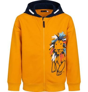 Endo - Rozpinana bluza z kapturem dla chłopca, z lwem, pomarańczowa, 2-8 lat C05C023_1 25
