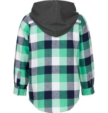 Endo - Koszula z długim rękawem i kapturem dla chłopca, w kratę, 3-8 lat C92F006_2,2