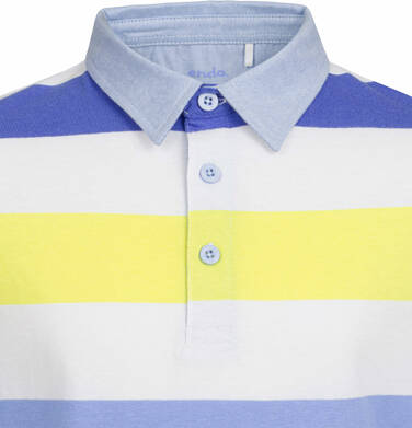 Endo - T-shirt polo z długim rękawem dla chłopca, w paski, 9-13 lat C03G540_1 16