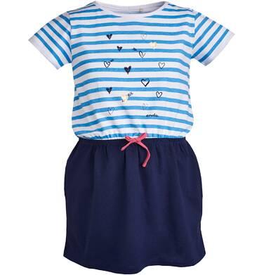 Endo - Sukienka z krótkim rękawem dla dziewczynki 3-8 lat D81H015_1