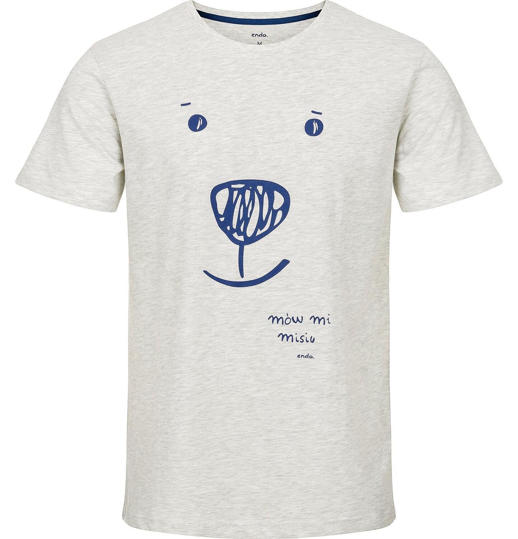 Endo - T-shirt męski z krótkim rękawem Q91G029_1