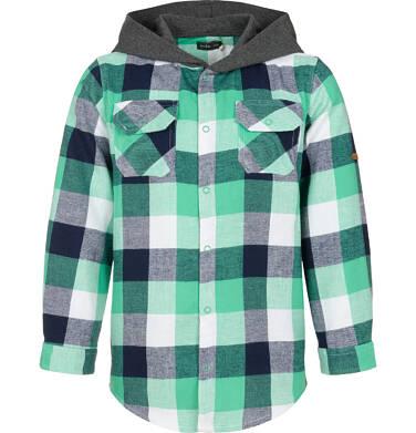 Koszula z długim rękawem i kapturem dla chłopca, w kratę, 9-13 lat C92F506_2