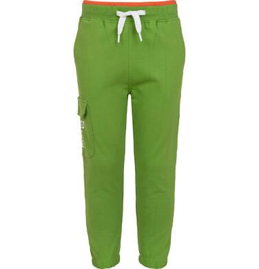 Spodnie dresowe dla chłopca, z kieszenią z boku, zielone, 2-8 lat C05K025_2
