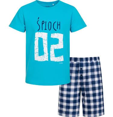 Endo - Piżama z krótkim rękawem dla chłopca, śpioch, niebieska, 2-8 lat C05V026_1 1