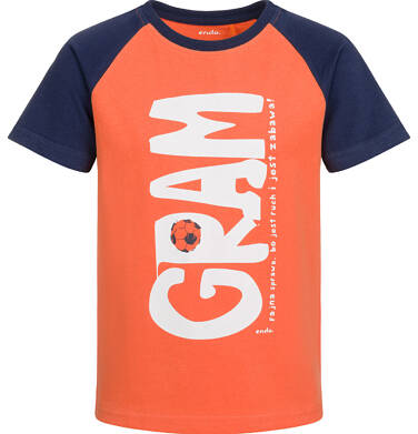 Endo - T-shirt z krótkim rękawem dla chłopca, gram, pomarańczowy, 2-8 lat C03G073_2