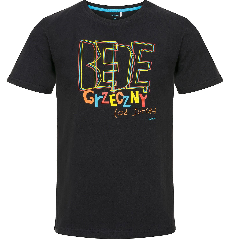 Endo - T-shirt męski z krótkim rękawem Q91G036_1