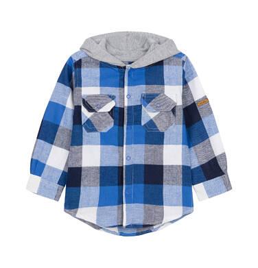 Koszula z długim rękawem i kapturem dla dziecka 0-3 lata N92F010_1