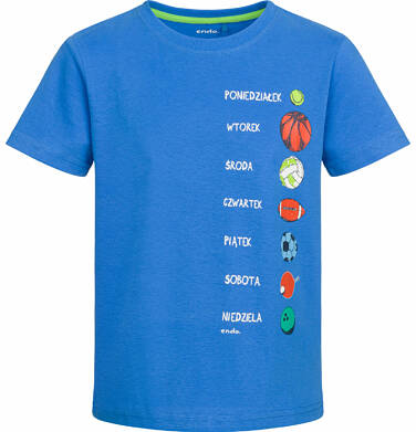 Endo - T-shirt z krótkim rękawem dla chłopca, sportowy tydzień, niebieski, 9-13 lat C03G555_1