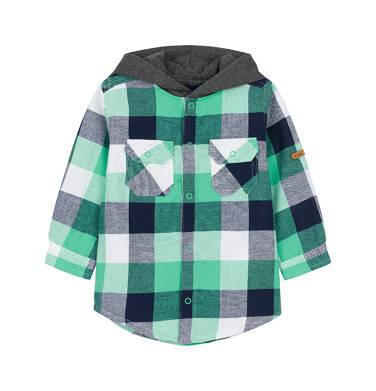 Koszula z długim rękawem i kapturem dla dziecka 0-3 lata N92F010_2