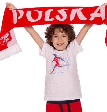 Endo - T-shirt z krótkim rękawem dla chłopca, z piłkarzem, biały, 2-8 lat C03G059_1,2