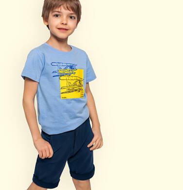 Endo - Krótkie spodenki dla chłopca, chinosy, granatowe, 2-8 lat C03K002_1,2