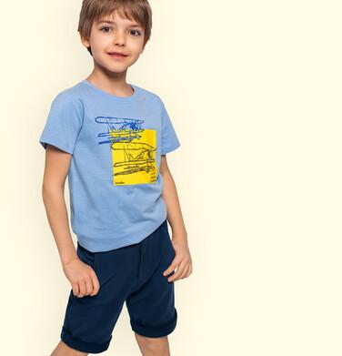 Endo - Krótkie spodenki dla chłopca, chinosy, granatowe, 9-13 lat C03K502_1 142