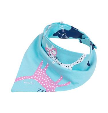Endo - Chustka wiosenna dla dziecka, niebieska w kotki N05R009_1 29