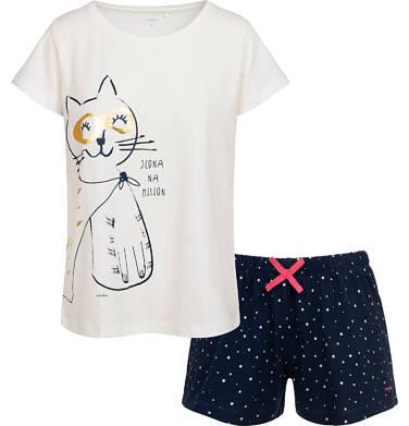 Endo - Piżama damska z kotem bohaterem, biała Y05V008_1 31