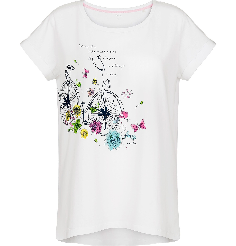 Endo - T-shirt damski z krótkim rękawem Y91G011_1