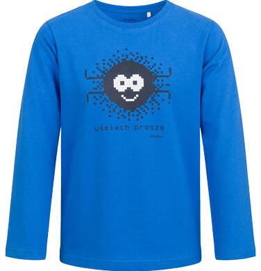 T-shirt z długim rękawem dla chłopca, niebieski, 2-8 lat C04G057_2