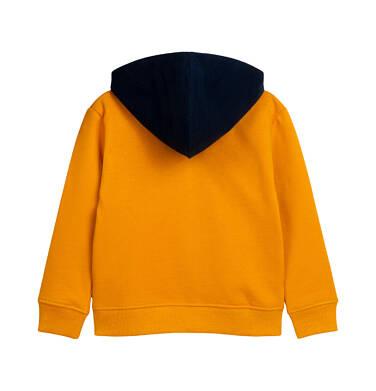 Endo - Rozpinana bluza z kapturem dla dziecka do 2 lat, pomarańczowa z lwem N05C014_1 5