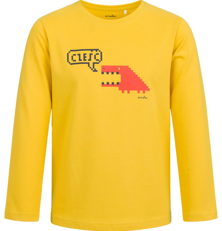 Endo - T-shirt z długim rękawem dla chłopca, żółty, 2-8 lat C04G061_1