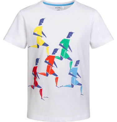 Endo - T-shirt z krótkim rękawem dla chłopca, sportowa drużyna, biały, 2-8 lat C03G061_1