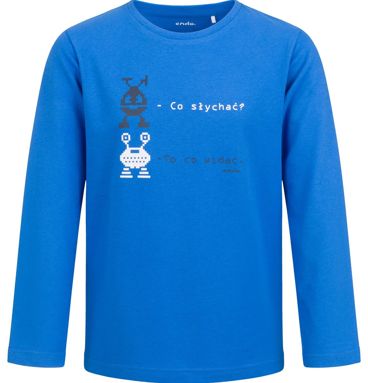 Endo - T-shirt z długim rękawem dla chłopca, niebieski, 2-8 lat C04G062_1